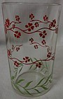 "Forget Me Not Red and Green 3.5"" Swanky Swig Hazel Atlas Glass Company"