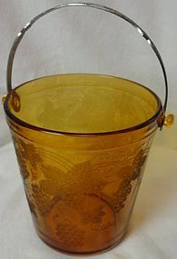 "E757 Amber Ice Bucket 6"" Cambridge Glass Company"