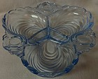 "Caprice Moonlight Blue 3 Compartment Relish 8"" Cambridge Glass Company"