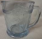 Sapphire Blue Mug 7 oz Thick Fire King Anchor Hocking Glass Company