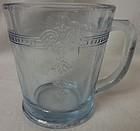 Sapphire Blue Mug 7 oz Thick Fire King Anchor Hocking Glass Company