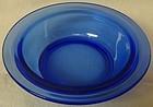 """Moderntone Cobalt Berry Bowl 5"""" Hazel Atlas Glass Company"""