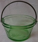 Whipped Cream Pail or Sugar Pail Green 4.75""