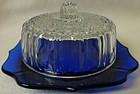 Butter Crystal and Cobalt Hazel Atlas Glass Company
