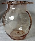 "Old Colony Pink Vase 7"" Hocking Glass Company"