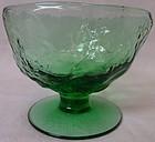 """Crinkle Green Sherbet 3"""" 6 oz Morgantown Glass Company"""