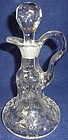 "Rock Crystal Cruet 6.75"" 6 oz Oil McKee Glass Company"