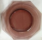 "Moroccan Amethyst Dinner Plate 9.75"" Octagon Hazel Atlas Glass"