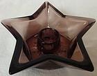 Moroccan Amethyst Candlestick Star Hazel Atlas Glass Company