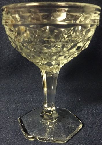 "American Crystal Saucer Champagne 4.75"" 4.5 oz Fostoria Glass Company"