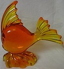 "Angel Fish Persimmon 6.75"" x 7"" Viking Glass Company"
