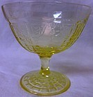 Princess Yellow Sherbet Hocking Glass Company