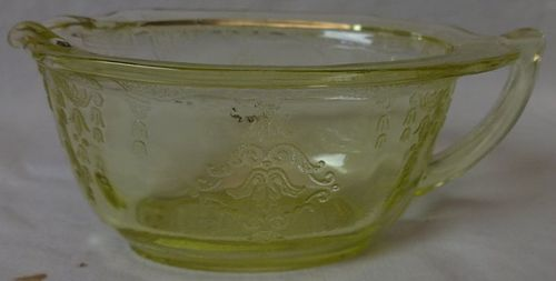Princess Yellow Creamer Hocking Glass Company