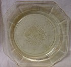 "Princess Yellow Salad Plate 8"" Hocking Glass Company"