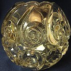 "Snail Crystal Rose Bowl 5"" Duncan Miller Glass Company"
