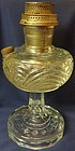 Washington Drape Crystal Plain Stem Oil Lamp Aladdin Mantle Lamp