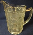 "Beaded Block Crystal Pint Jug 6 1/8"" Imperial Glass Company"