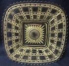 "Beaded Block Crystal Plate Square 7.75"" Imperial Glass Company"