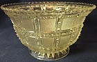 "Beaded Block Crystal Deep Round Bowl 6"" Imperial Glass Company"