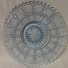"Beaded Block Blue Plate Round 8"" Imperial Glass Company"