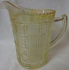 "Beaded Block Iridescent Pint Jug 5.5"" Imperial Glass Company"