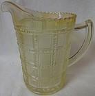 "Beaded Block Iridescent Pint Jug 5.5"" Imperial Glass Company"