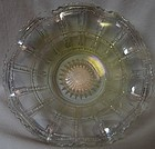"Beaded Block Crystal Iridescent Bowl 8"" Ruffled Imperial Glass Company"