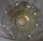 "Beaded Block Crystal Iridescent Bowl 8"" Ruffled Imperial Glass Company"