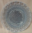 """Laced Edge Blue Opalescent Salad Plate 8"""" Imperial Glass Company"""