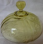 Madrid Amber Butter Lid Federal Glass Company