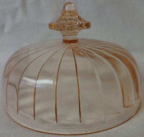 Sierra Pink butter Lid Jeannette Glass Company