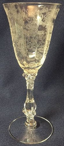 "Rose Point Crystal Wine 3121 5.75"" 3.5 oz Cambridge Glass Company"