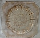 "Adam Pink Salad Plate 7.75"" Jeannette Glass Company"