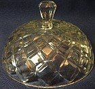Waterford Crystal Butter Lid Hocking Glass Company