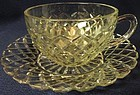 Waterford Crystal Cup & Saucer Hocking Glass Company