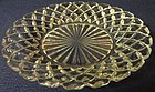 "Waterford Crystal Sherbet Plate 6"" Hocking Glass Company"