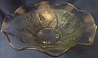 "Iris Crystal Ruffled Fruit Bowl 11.5"" Jeannette Glass Company"