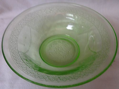 "Georgian Green Cereal Bowl 5.75"" Federal Glass Company"