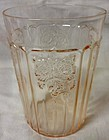 "Mayfair Pink Water Tumbler Flat 4.25"" Hocking Glass Company"