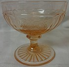 "Mayfair Pink Sherbet 3"" Hocking Glass Company"