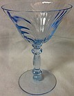 "Caprice Moonlight Blue Tall Sherbet 5 5/8"" 6 oz Cambridge Glass"