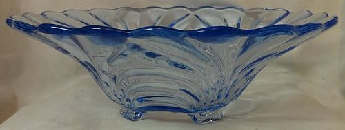 "Caprice Moonlight Blue Bowl 10.5"" 4 Footed Belled #54 Cambridge Glass"