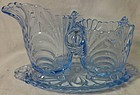 "Caprice Moonlight Blue Creamer 4.25"" and Sugar 3.5"" on Tray #42"