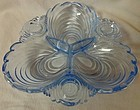 "Caprice Moonlight Blue Relish 3 Part 8"" #122 Cambridge Glass Company"