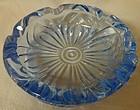 "Caprice Moonlight Blue Ashtray Round 5.5"" #216 Cambridge Glass Company"