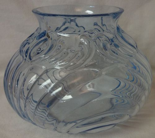 "Caprice Moonlight Blue Vase 7.5"" Plain Top #246 Cambridge Glass"