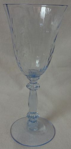 "Caprice Moonlight Blue Claret 6.25"" 4.5 oz #300 Cambridge Glass"