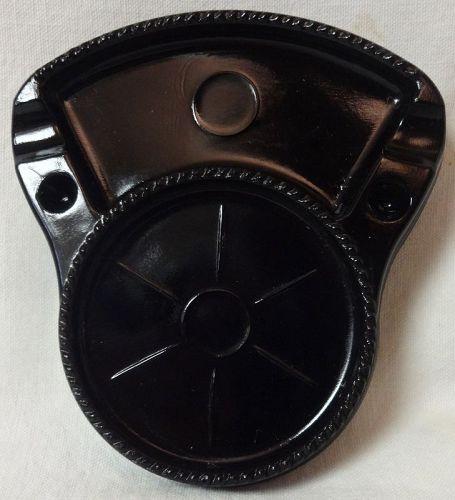 "Coaster Ashtray Black 5.25"" x 4.75"" U S Glass Company"