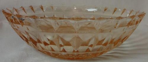 "Windsor Pink ZZ Bowl 8"" Jeannette Glass Company"