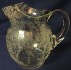 "Rose Point Crystal Jug 20 oz 5.5"" 3900/117 Cambridge Glass Company"